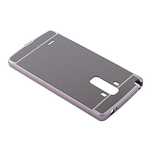 UNIVERSAL Detachable Ultra-Thin Metal Mirror Back Phone Case For LG G4 Stylus Black