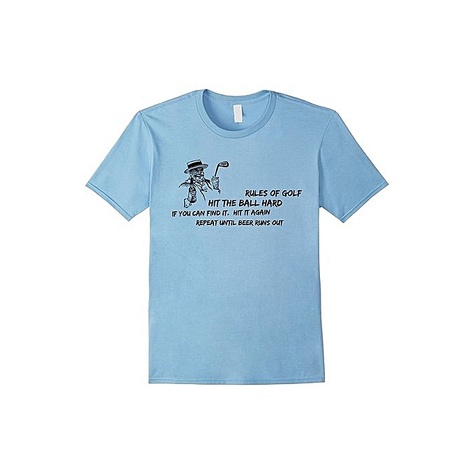 Cheap Summer T-shirt Rules Of Golf Funny T-Shirts