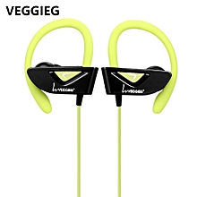 VEGGIEG V8 Sports Bluetooth Ear Hook Earphones GREEN