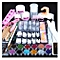 Acrylic Powder Glitter Nail Brush False Finger Pump Nail Art Tools Kit Set