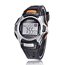Kids Sports Digital LED Watches Wrist Watch Alarm Date Rubber Wrist BK