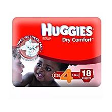 Dry Comfort Diaper Size:4 (8-14 Kg) - 18 Diapers