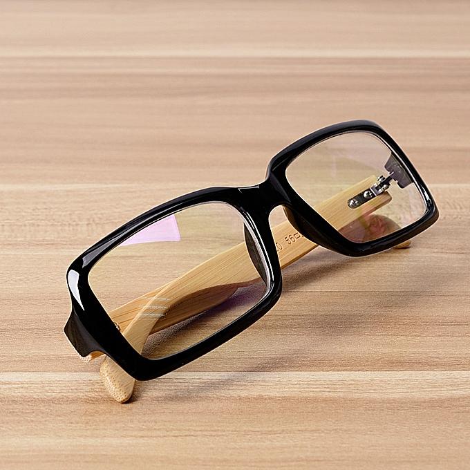 40b1f98f89 Fashion Bamboo Rectangle Glasses Frame Eyewear Frames For Women Men ...