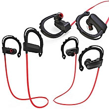 Q12 Hanging Ear Music Stereo Bluetooth Sports Headset Bluetooth Headphones(Red)
