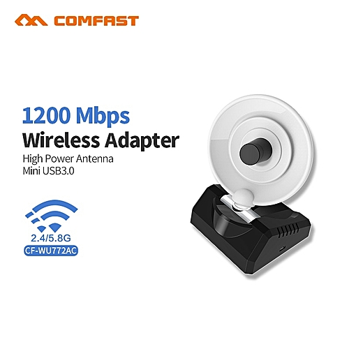 1200Mbps 5Ghz 2 4Ghz USB3 0 Wifi Adapter Dual Band RTL8812BU Wifi Antenna  Dongle LAN Adapter For Windows Mac Desktop/Laptop/PC ( )