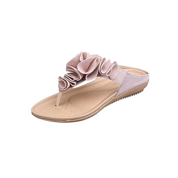 42c16db8b Blicool Shop Women Sandals Women s Summer Beach Flip Flops Casual Flat  Shoes Lady Pretty Floral Sandals ...