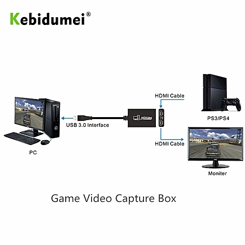 USB3 0 1080P 60fps HDMI Video Capture Card Recording USB 3 0 Live Broadcast  Streaming for Windows PC Computer