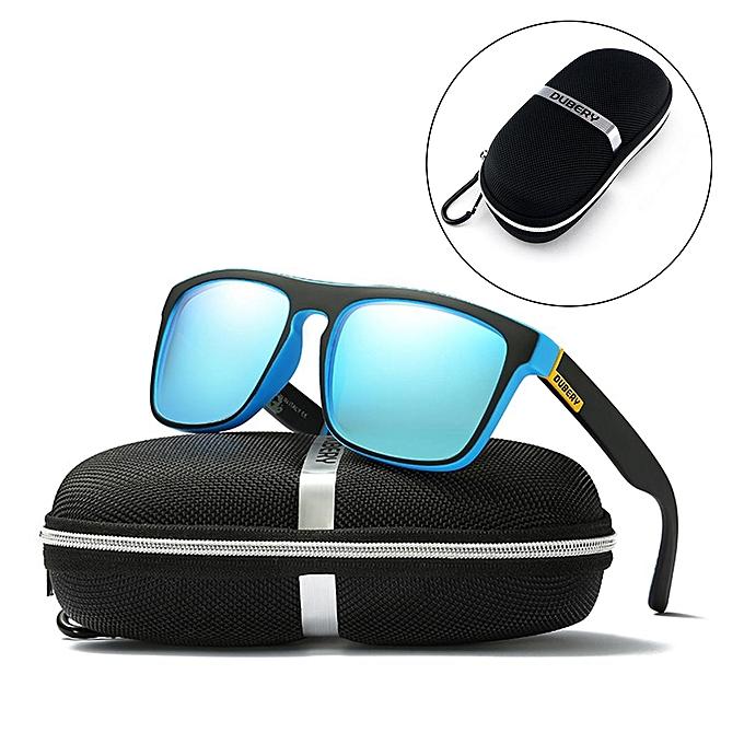 b65bb92926e 5PCS DUBERY Sunglasses Box Glasses Zipper Case Bag Pouch w  Cloth Polarized  Test Card