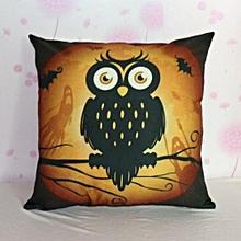 Halloween Pumpkin Square Pillow Cover Cushion Case  Pillowcase Zipper Closure