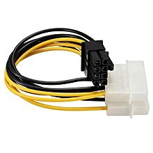 Dual LP4 Pin To 8 Pin PCI-E Expresss Converter Adapter VGA Power Cable