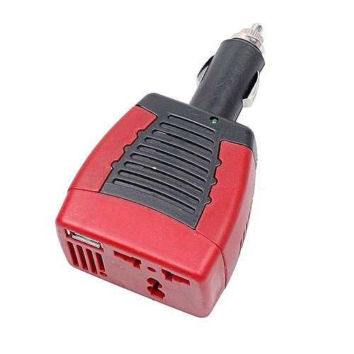 75W Car Power Inverter Charger Adapter DC 12V to AC 220V Cigarette Lighter  USB