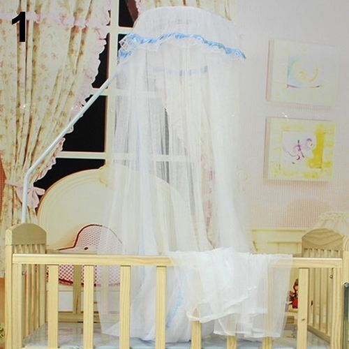 Baby Bed Mesh Dome Curtain Mosquito Net Durable Toddler Crib Cot Canopy Bed Net-Blue & Baby Bed Mesh Dome Curtain Mosquito Net Durable Toddler Crib Cot ...