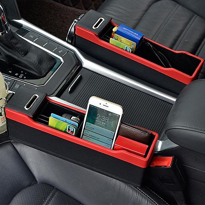 Tidy Storage Coin Bag Case Car Seat Gap Pocket Catcher FillerStorage Organizer Store Content Box