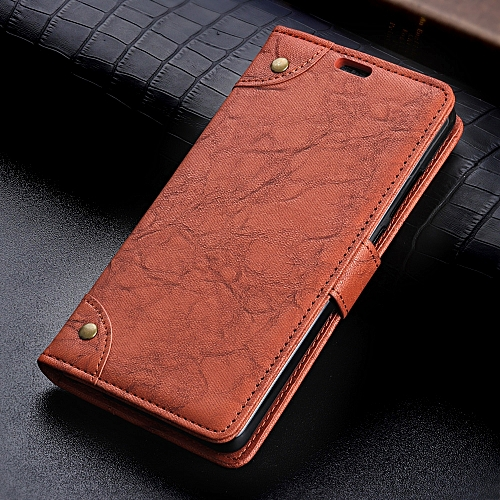 best service dd5be ccf8e Copper Buckle Retro Crazy Horse Texture Horizontal Flip Leather Case for  OPPO F9 (F9 Pro), with Holder & Card Slots & Wallet (Brown)