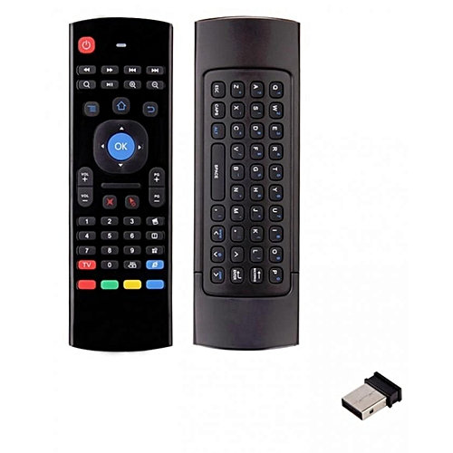 Airmouse/ Mini Wireless Keyboard/ Multifunction Infrared Remote for Android  Smart TV Box/ IPTV/ mini PC HTPC/ PC Windows - Black