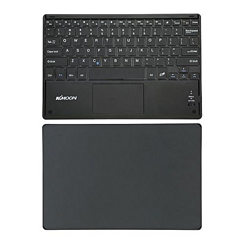 6e38b8ad3c5 KKmoon 81 Keys Ultra Slim Thin Bluetooth Keyboard With Touch Pad For  Android 3.0 Windows XP 7 8