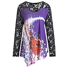 Christmas Santa Claus Lace Plus Size T-shirt