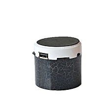 Mini Portable Bluetooth Stereo Speaker With Built-in Mic and LED(Without FM) - Black