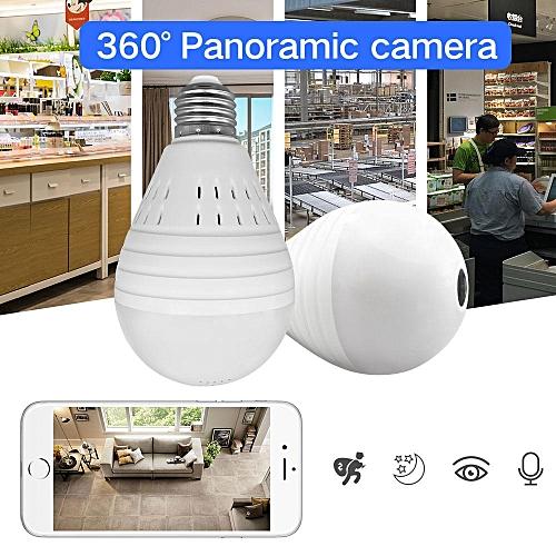 Spy Camera 1080P Bulb Light Wireless IP Camera 360 Degree Panoramic FishEye  Security CCTV Camera Wifi P2P Motion Detection Camera IP WWD