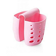 Hanging Silicone Kitchen Sink Cuddy -Pink