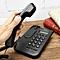 Black Desktop Home Wall Mount Office Corded Phone Caller Id Telephone Clock