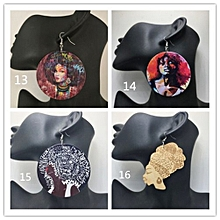 Set of 4 Earrings African Afro Chic