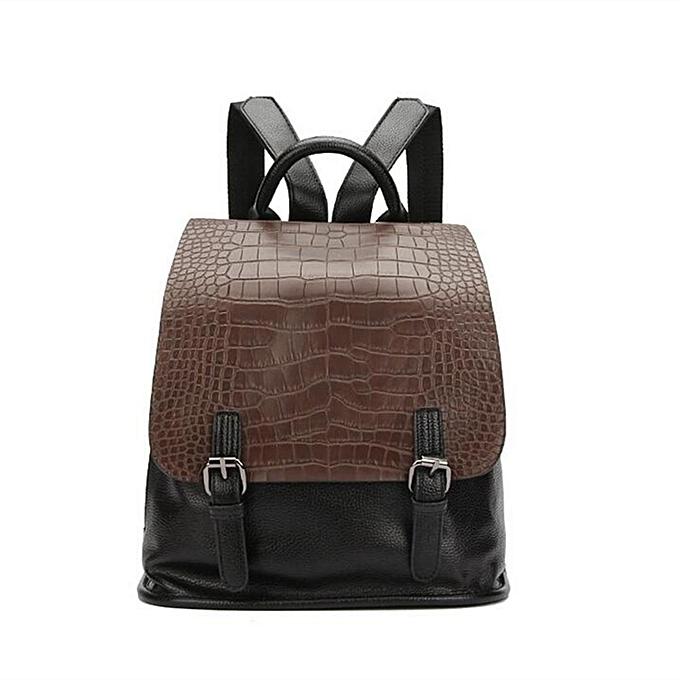 acb9e38269f2 Vintage Women PU Leather Backpack Daypack School Bookbag Rucksack Shoulder  Bag Coffee