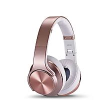 "Bluetooth """"SPEAKER"" Headphones with FM Radio - Rose Gold"