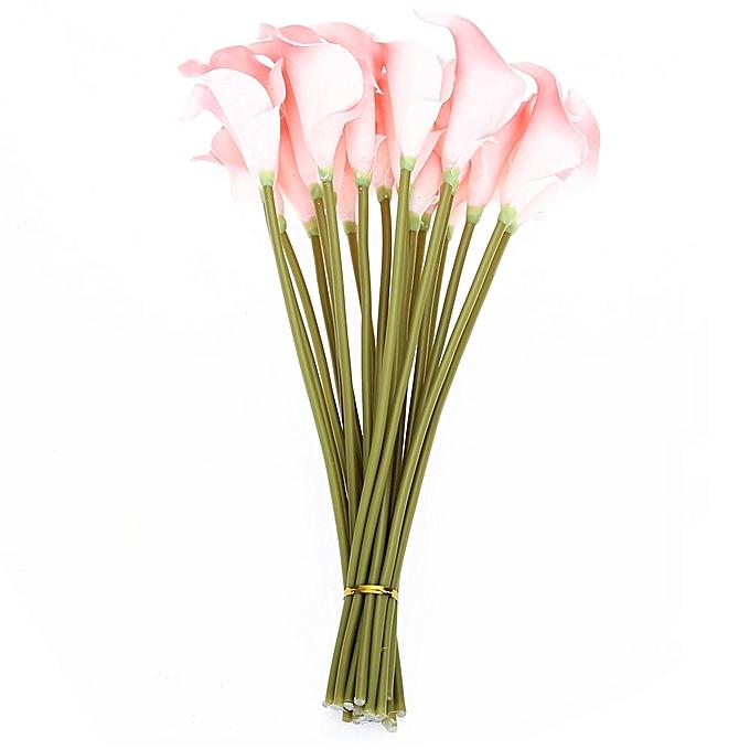 Buy Generic 20pcs Artificial Calla Lily Flower Bouquet Party Wedding ...