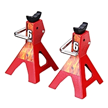 2Pcs 6 TON Metal Scale Jack Stands for Axial SCX10 TAMIYA CC01 RC Trucks Set