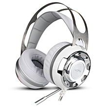 LEBAIQI Cosonic V3 Fashion Cool Steel Series Gaming Headset Stereo Earphone HiFi Headphones With Microphone LED Light For Computer PC Gamer