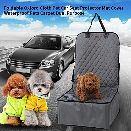 Pet Car Seat Protector Mat Cover Pets Carrier BasketGray With ToyFoldable Oxford