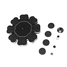 OR Flower-type Solar Powered Fountain Pump Floating Water For Garden Pool-black