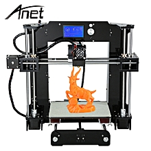 A6 3D Desktop Printer Kit LCD Screen Display with TF Card Off-line Printing Function - Black