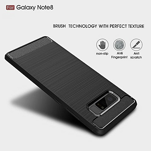 more photos 8375c 586a8 Mooncase Case For Samsung Galaxy Note 8 Carbon Fiber Resilient Drop  Protection Anti-Scratch Rugged Armor Case Red