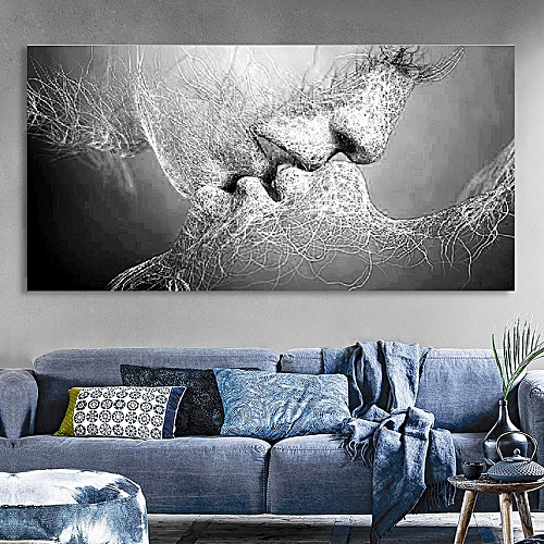 Prime Unframed Black Love Canvas Painting Print Picture Living Room Wall Art Decor Grey Home Interior And Landscaping Ologienasavecom