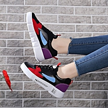 Round Toes Flat Women Sports Shoes Black