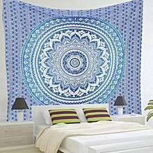 Blue Print Mandala Tapestry Bath Swimming Hanging Beach Throw Yoga Rug Blanket