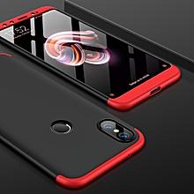 GKK PC 360 Degrees Full Coverage Case for Xiaomi Mi 6X (Black+Red)
