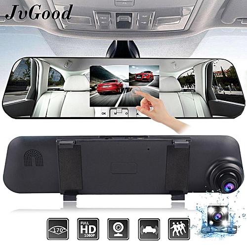 "Generic JvGood Car DVR, Dash Cam Mirror Rear View Mirror Camera, Car Video Recordor ,4.3"" 1080P HD TFT Screen,140° Wide Angle Front and 120° Rear Dual Lens, ..."