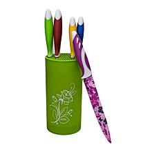 Fancy Multicolor Ceramic Knives - 5 Pieces - Multicoloured.