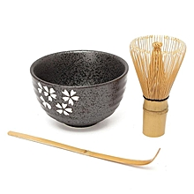 4 Style Matcha Set Bamboo Matcha Whisk+Chashaku Tea Scoop+Matcha Ceramic Bowl