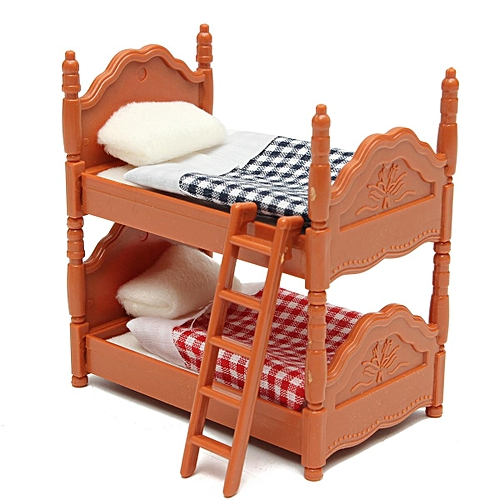 Buy Generic Plastic Bunk Bed Miniature Dollhouse Furniture Toy Set