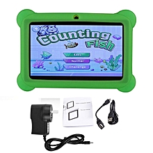 7 inch Children Kids Tablet 2G+16G Dual Camera Tablet With Cover for Android green