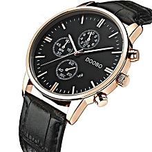 Luxury Brand Men's Watch Leather Fashion Quartz-Watch Casual Male Sports Wristwatch Date Clock
