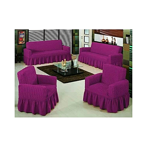 Home Deca Sofa Seat Covers – 3+2+1+1 - Purple   Best Price  8102ced6d