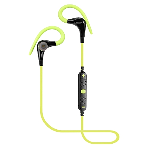 GBtiger Bluetooth 4.0 Headphone Wireless Sports Earphone Headset Earbud GREEN