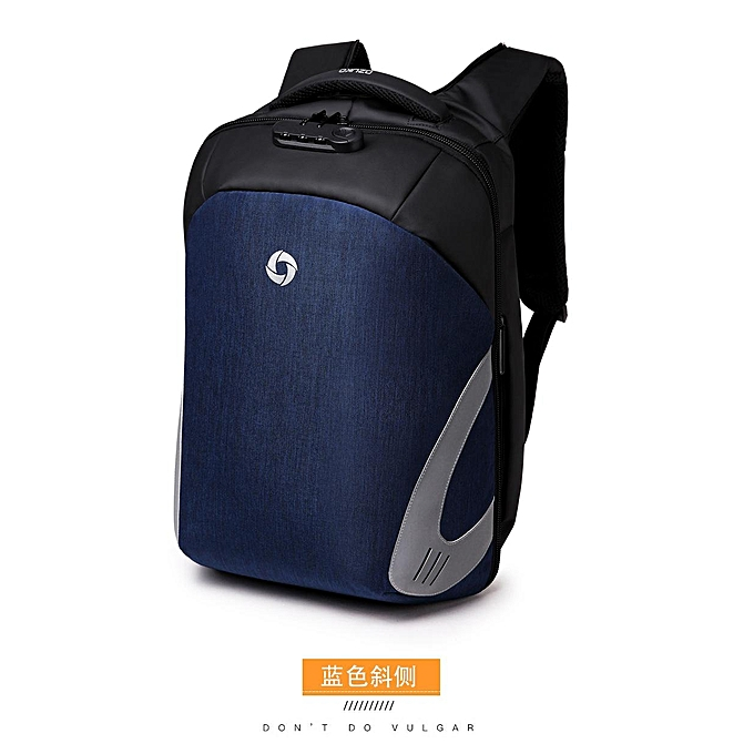 ee1594a6cf Oxford Large Capacity USB Charging Waterproof 16 Inches Laptop Bag Backpack