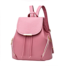 singedan Fashion School Leather Backpack Shoulder Bag Mini Backpack for Women & Girls  -pink