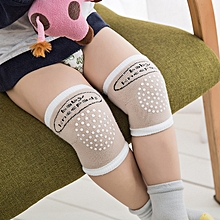 1 Pair Toddler Kids Kneepad Protector Soft Non-Slip Safety Crawling Baby Leg Warmers Summer Breathable Knee Pads - khaki